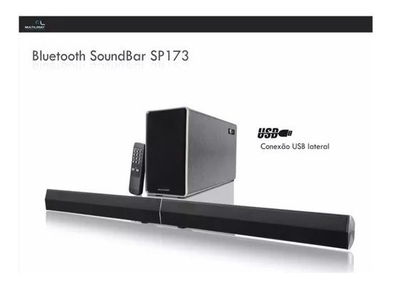 Caixa De Som Soundbar Multilaser Bluetooth 150w Usb - Sp173