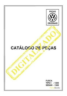 Catálogo Peças Volkswagen Fusca 1200 1300 1965