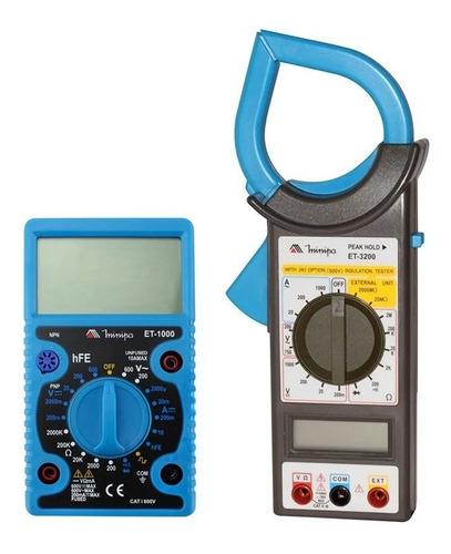 Kit Alicate Amperímetro Et-3200 + Multímetro Et-1000 Minipa
