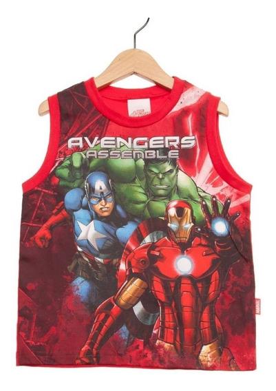Regata Avengers Marvel Vermelha Menino Brandili