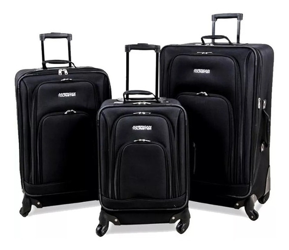 * Kit 3 Valijas American Tourister At Tour Premium Calidad *