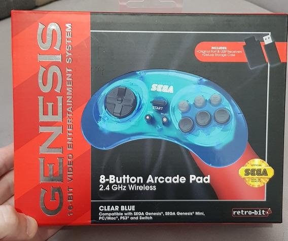 Controle Mega Drive Genesis Retrobit Sem Fio 2,4ghz, Novo