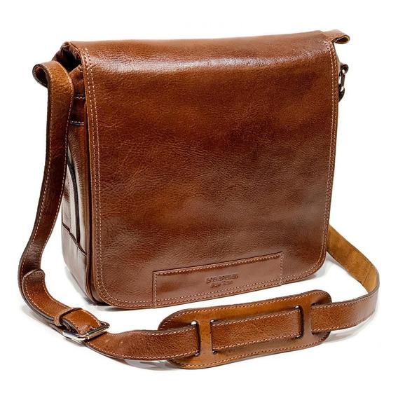 Morral Cuero Hombre Bolso Viaje Porta Notebook