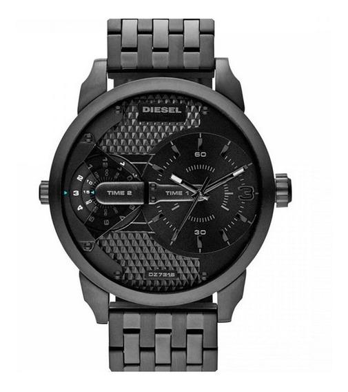 Relógio Diesel Masculino Little Daddy Dualtime Dz7316/1pn