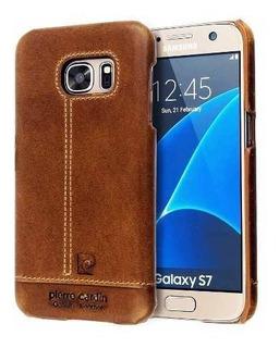Funda De Cuero Genuino Pierre Cardin Galaxy S7 Original