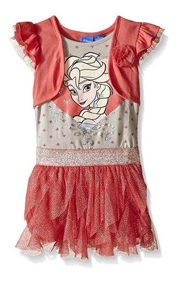Vestidos Importados Frozen Tutu Original Disney Talla 6.