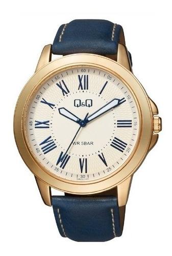 Reloj Qyq Qb22j107y Cuero Para Caballero Original