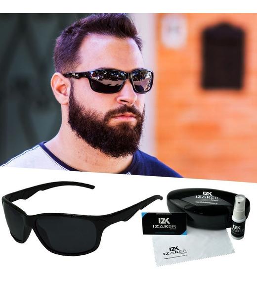 Óculos De Sol Esportivo Masculino Polarizado Original Preto
