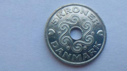Moneda Dinamarca 5 Kroner 2005