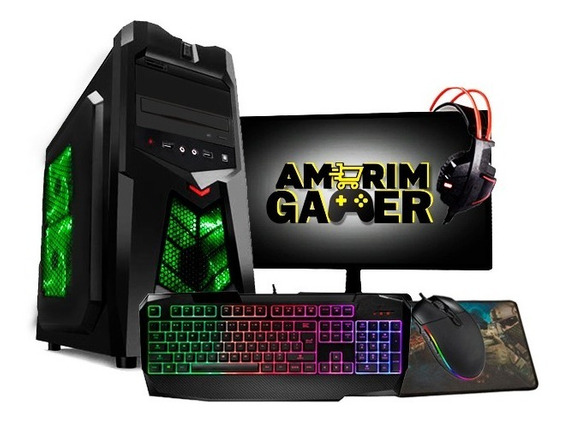 Pc Gamer Completo Hércules Intel Gpu R7 240 8gb Hd 500gb