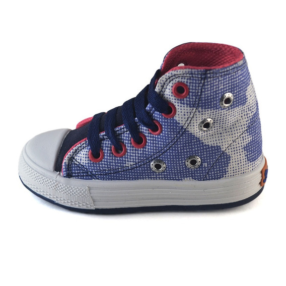 Bota Camuflado Azul Tachas Small Shoes