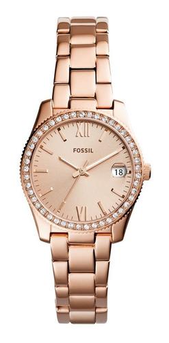 Reloj Dama Fossil Es4318 Color Oro Rosado De Acero