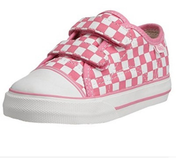 Tenis Vans Big School Rosa Para Niña