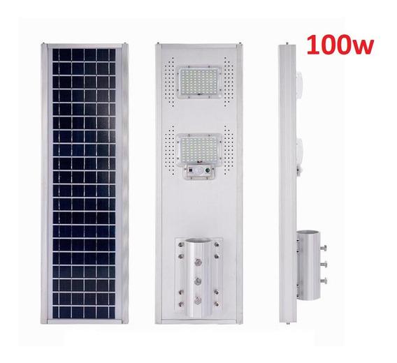 Luminaria 100w Panel Solar All In One Cuerpo Alumino