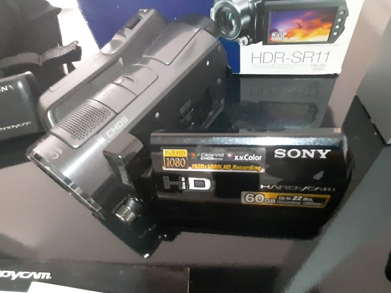 Filmadora Sony Hdr Sr11 60gb 12x Ótico 150x Digital