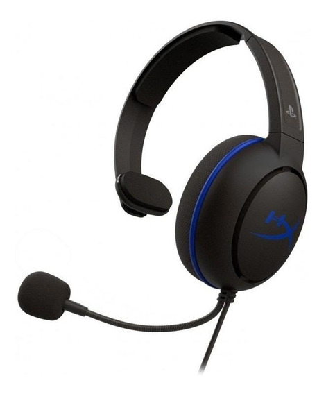 Fone de ouvido gamer HyperX Cloud Chat preto e azul