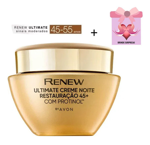 Renew Ultimate Noite 45-55 Creme Anti Rugas Avon + Brinde