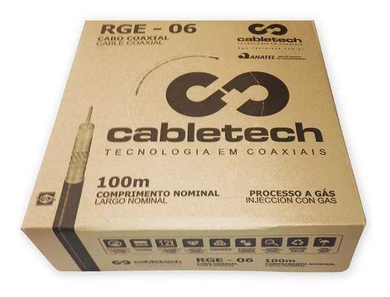 Cabo Coaxial Cabletech Rge-06 100m Comprimento Nominal