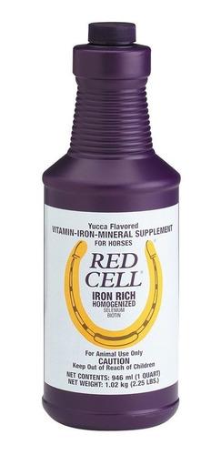Imagen 1 de 2 de Red Cell Suplemento Mineral Vitamínico 946ml Para Caballos