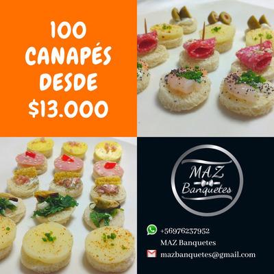 Canapés, Tapaditos, Pastelitos, Con Retiro O Despacho