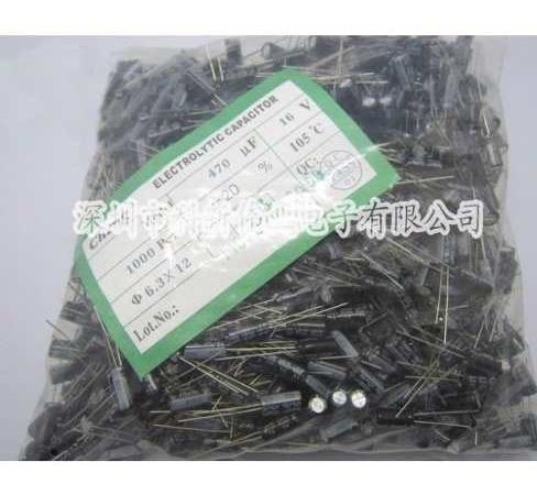 Capacitor Electrolitico De Alum. 470uf 16v 6.3x 12 Pack X 10