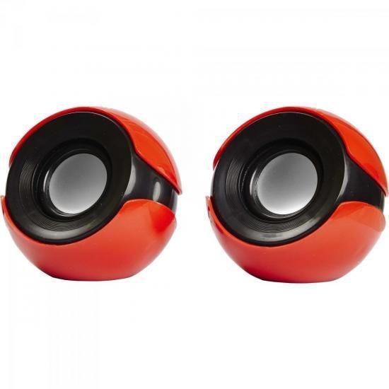 Caixa Multimídia 2.0 5w Rms Cs-69 Vermelha/preta Exbom