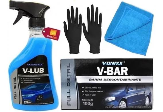 Massa Claybar V-bar Vonixx V-lub Lubrificante Toalha Luvas