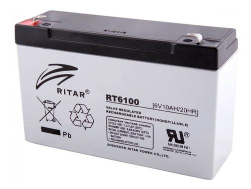 Imagen 1 de 1 de Bateria Recargable 6v 10ah Ritar Rt6100