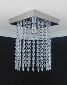 Lustre Cristal Acrilico Sala Quarto Banheiro Cozinha Dubai