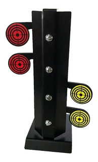 Alvo Carabina Espingarda .22 Metal 4 Pendulos Rearmavel 6mm