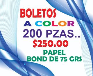200 Boletos Para Rifa