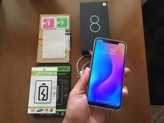 Xiaomi Mi 8 Dual Sim 128 Gb Branco +bateria Orig. + Película