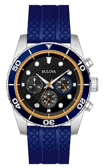 Reloj Bulova Cronografo Original Para Hombre Time Square