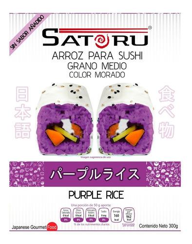 Arroz Japonés Morado Para Sushi Sin Sabor Añadido 300g
