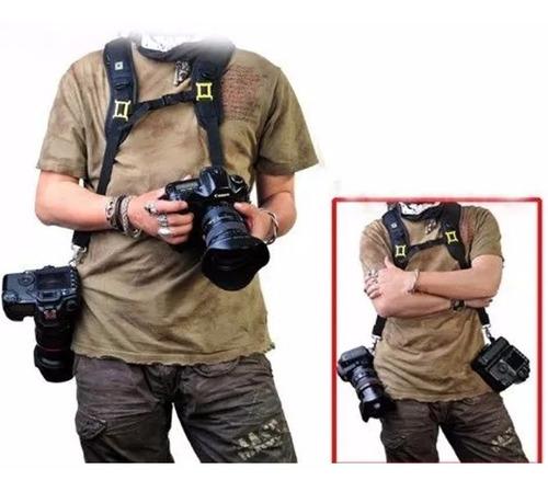 Correa Arnes Doble Para Llevar 2 Camaras Nikon Canon