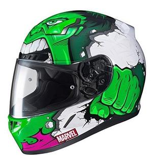 Casco De Moto Hjc Marvel Unisex-adult Full Face Cl-17 Hulk