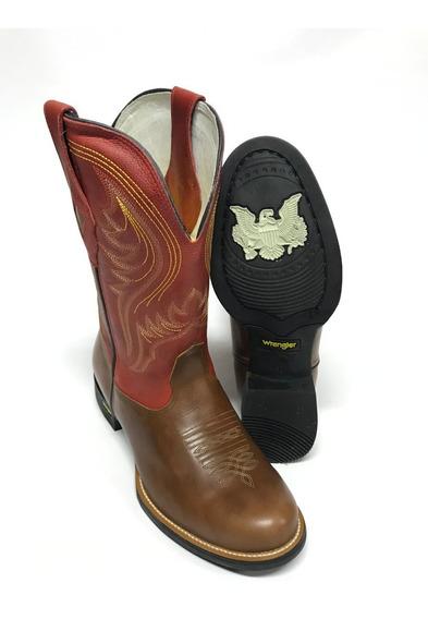 Bota Texana Masculina Wrangler Modelo Goyazes Cano Vermelho