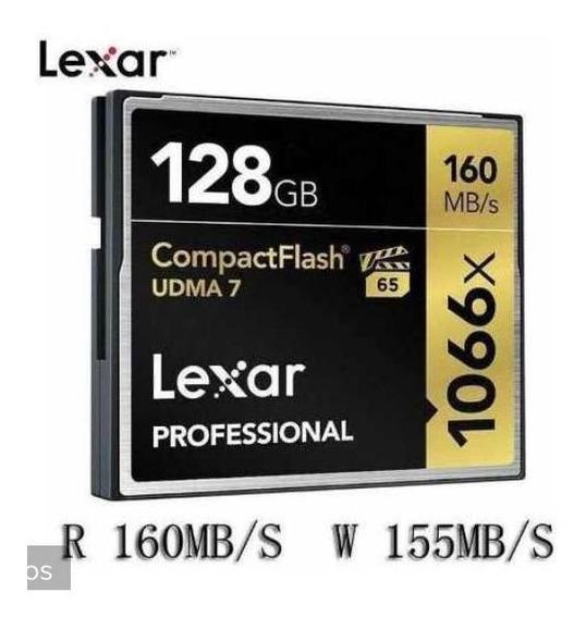 Cartao Cf Lexar Pro 128gb 160mb/s 1066x Novo - Entrega Hoje