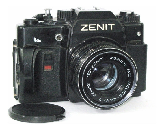 Máquina Fotográfica, Zenit 122, Lente Helios 44m-7,analógica
