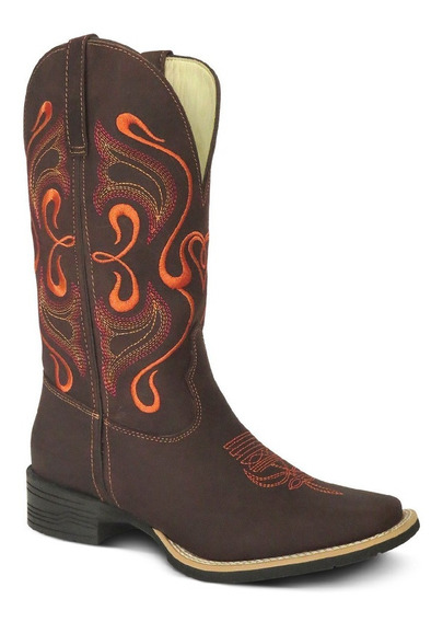 Bota Country Feminina Texana Lady Silver Couro Cr Horse Cafe