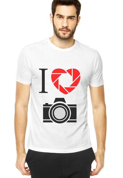 Camiseta Eu Amo Fotografia