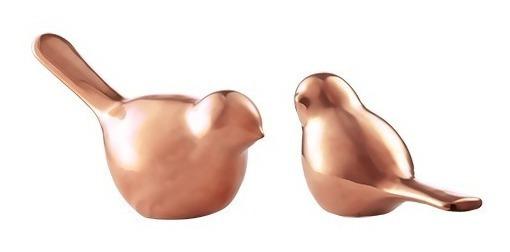 Kit Pássaro De Cerâmica Cores - 2 Peças