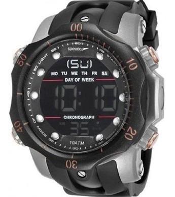 Relógio Speedo Masculino Alarme 11005g0evnp5   Novo