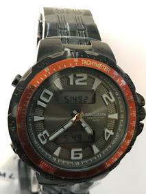 Relógio Seculus Aço Anadigi Masculino 20544gpsvsa2