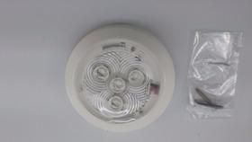 Luminária Utilitária Náutica/base Branca/led Azul/12 V/barco
