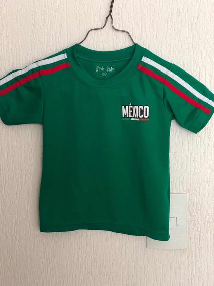 Playera Niño 3 Años Selección Mexicana Fútbol Usada