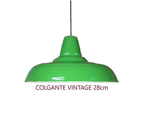 Colgante Lamparas Vintage De 28 Cm Fabricacion Nacional