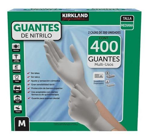 Imagen 1 de 2 de 400 Guantes Nitrilo Medianos, Kirkland, 2 Cajas De 200 C/u