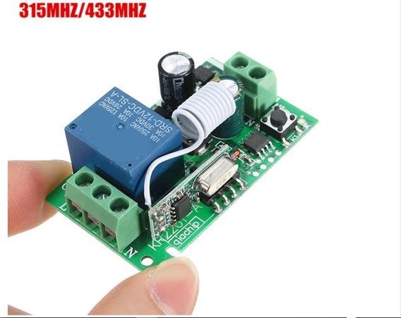 Rf Relé Receptor Remoto Interruptor 433 Mhz Sem Fio !