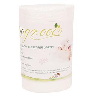 Wegreeco Forro De Pañales 100% De Bambu Sin Aroma Biodegrad